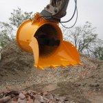 Benna frantoio per escavatori